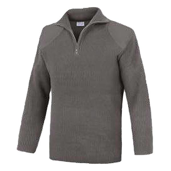 Jersey cuello cremallera con refuerzo sin bolsillo Vesin gris