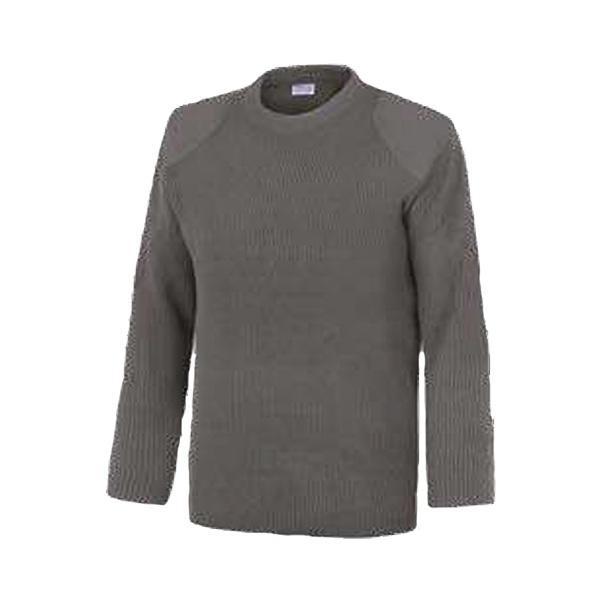 Jersey cuello redondo con refuerzos sin bolsillos Vesin gris