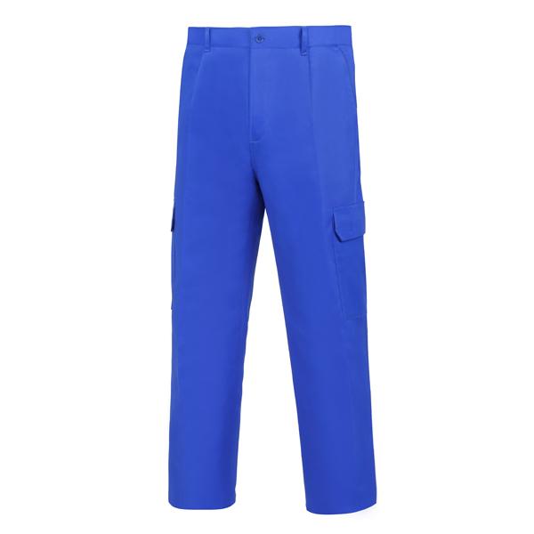 Pantalón de trabajo con goma en parte trasera cintura multibolsillos Vesin L-1000 azulina AGM8-AZ