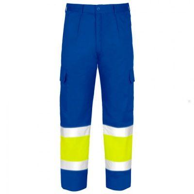 Pantalón Acolchado Multibolsillos de alta visibilidad Vesin Azul