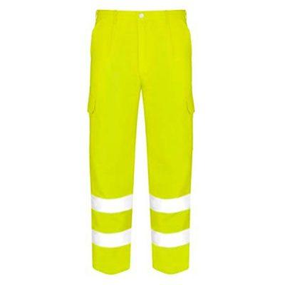 Pantalón Acolchado Multibolsillos de alta visibilidad Vesin amarillo