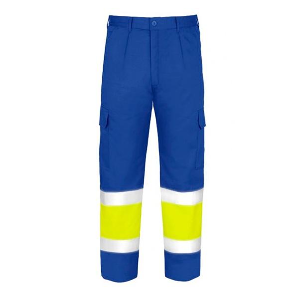Pantalón Acolchado Multibolsillos de alta visibilidad Vesin azulita