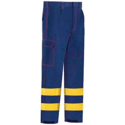Pantalón de trabajo  Multibolsillos Vesin azul-amarillo