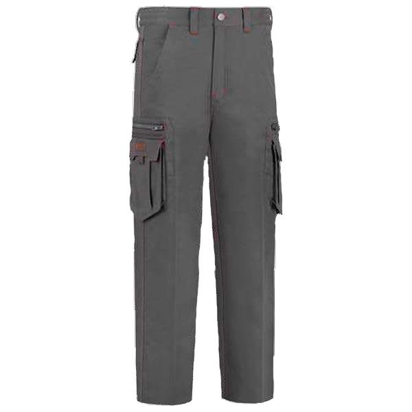 Pantalón de trabajo  con 8 bolsillos multicremalleras vesin gris