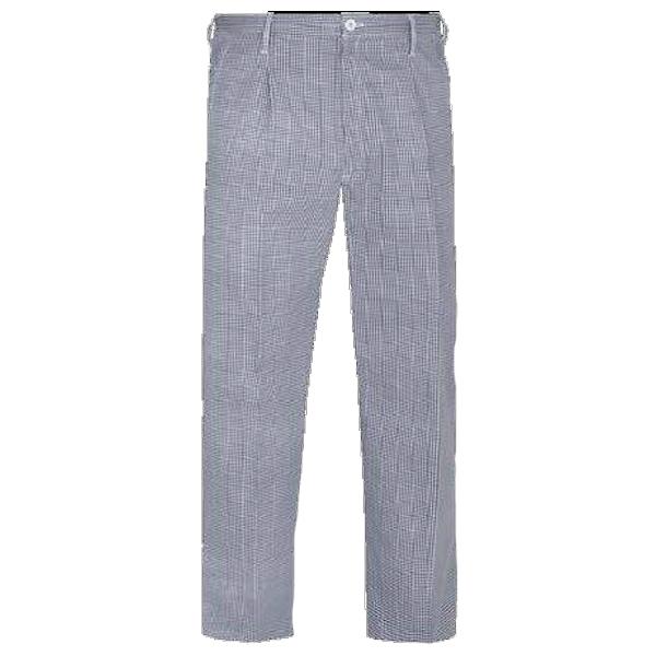 Pantalón de trabajo  para trabajar  con goma y cremallera blanco-azul PU602