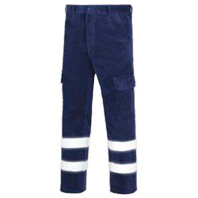 Pantalón de trabajo  de trabajo  de trabajo  de pana multibolsillos vesin reflex azul
