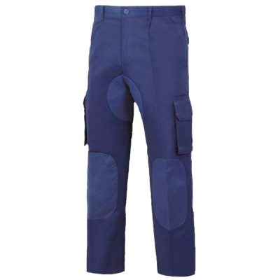 Pantalón multibolsillos con forro de franela vesin azul