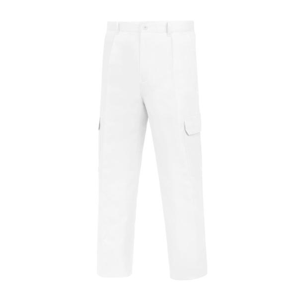 Pantalón de trabajo  de trabajo  de trabajo  multibolsillos con goma Vesin pintor blanco