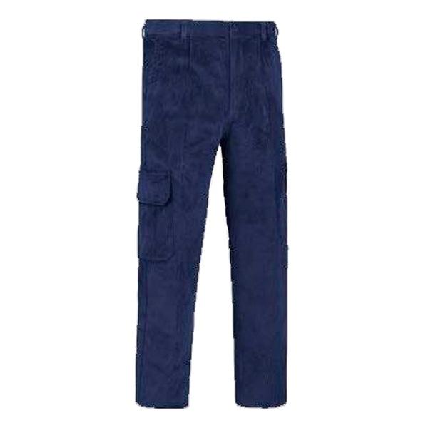 Pantalón de trabajo  de trabajo  de trabajo  multibolsillos con refuerzos pana Vesin cargo azul