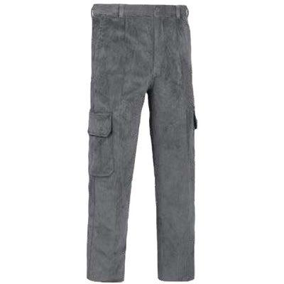 Pantalón de trabajo  de trabajo  de trabajo  multibolsillos con refuerzos pana Vesin cargo gris