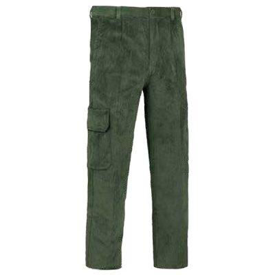 Pantalón de trabajo  de trabajo  de trabajo  multibolsillos con refuerzos pana Vesin cargo verde
