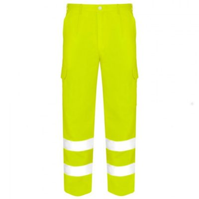 Pantalones multibolsillos de alta visibilidad Vesin amarillo