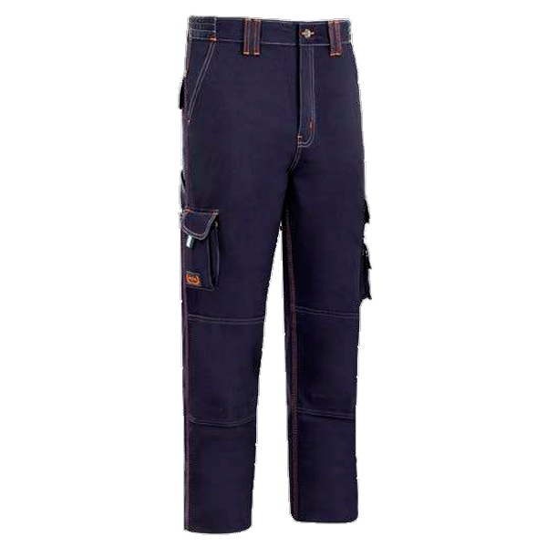 Pantalón de trabajo multibolsillos  triple costura vesin azul