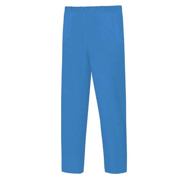 Pantalón de trabajo pijama de poliéster y algodón, con goma en toda la cintura Vesin azul.