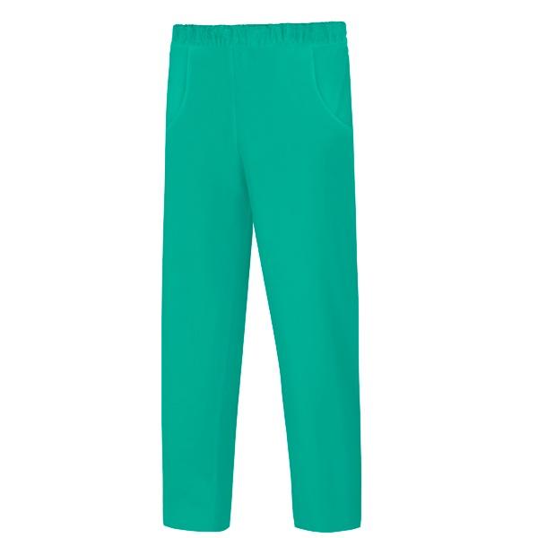 Pantalón de trabajo, poliéster y algodón,  pijama con goma en toda la cintura Vesin verde