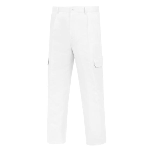 Pantalón de trabajo  para trabajar  multibolsillos Vesin Blanco L-500 PGM31-BL