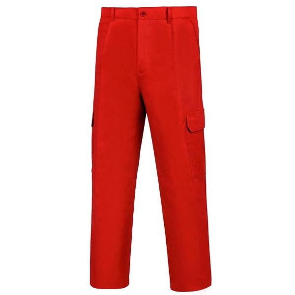 Pantalón de trabajo  para trabajar  multibolsillos Vesin Rojo L-500 PGM31-RO