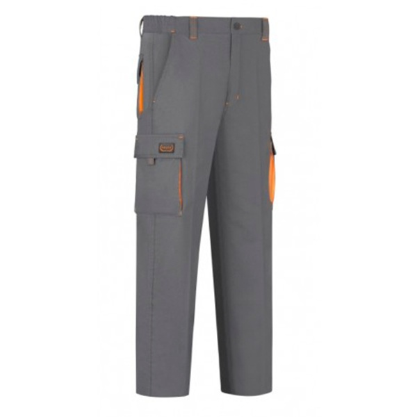 Pantalón de trabajo  6 bolsillos Vesin bicolor gris