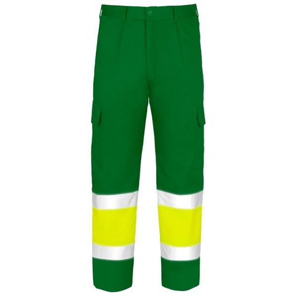 Pantalones multibolsillos de alta visibilidad Vesin verde