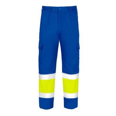 Pantalones multibolsillos de alta visibilidad Vesin azulita