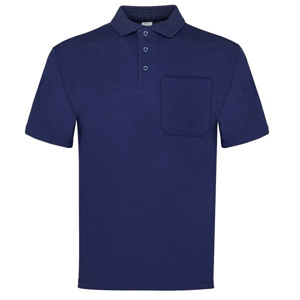 Polo manga corta con bolsillo Vesin azul