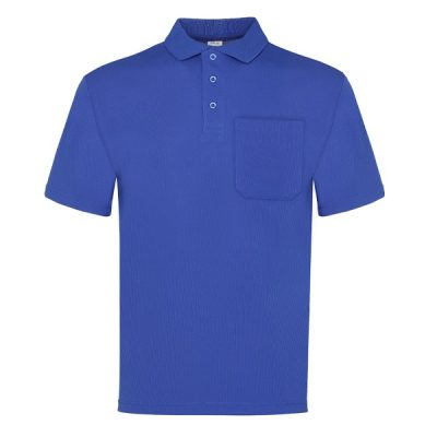 Polo manga corta con bolsillo Vesin azulita