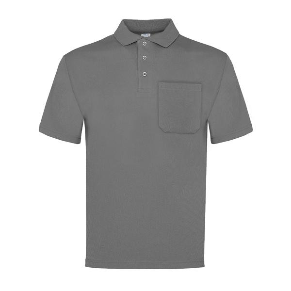 Polo manga corta con bolsillo Vesin gris