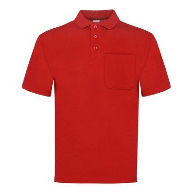 Polo manga corta con bolsillo Vesin rojo