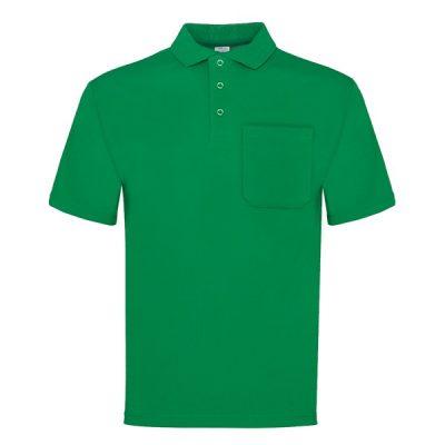 Polo manga corta con bolsillo Vesin verde