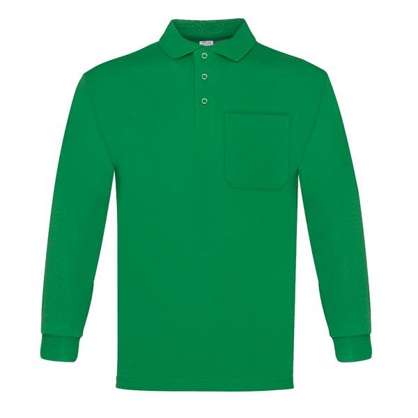 Polo manga larga con bolsillo Vesin verde