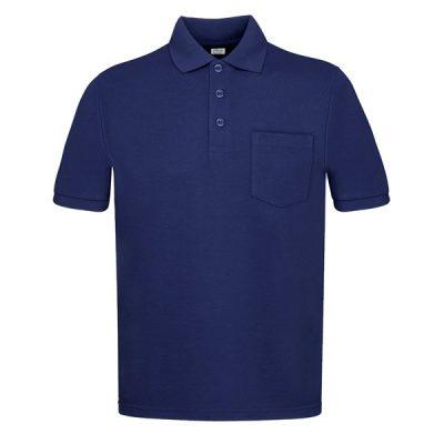 Polo manga corta con bolsillos Vesin azul
