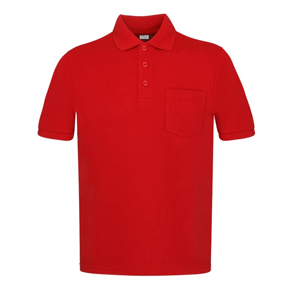 Polo manga corta con bolsillos Vesin rojo