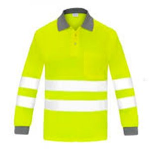 Polo manga larga alta visibilidad transpirable Vesin amarillo