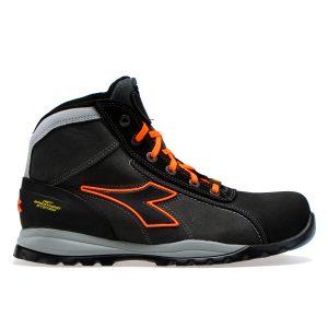 Calzado de Seguridad Diadora Glove Net Mid Pro S3 HRO SRA ESD Asphalt Orange Fluo