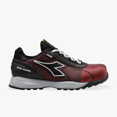 Calzado de seguridad Diadora Glove MDS Matryx Low S3 HRO SRC Rojo llama / Negro Unisex