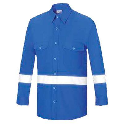 Camisa manga larga con dos bolsillos Vesin azulina L-500