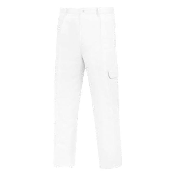 Pantalón de trabajo multibolsillos Vesin Blanco L-1000