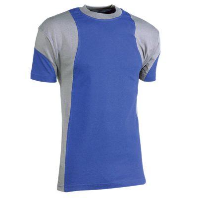 Camiseta de manga corta Juba 930 PREMIUM Azulina - Gris