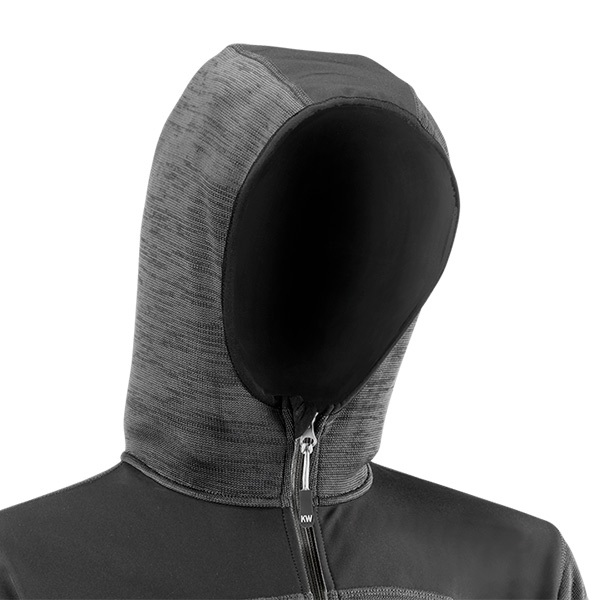 Chaqueta con capucha fija exterior Juba 2897G KARAVIA Gris - Negro