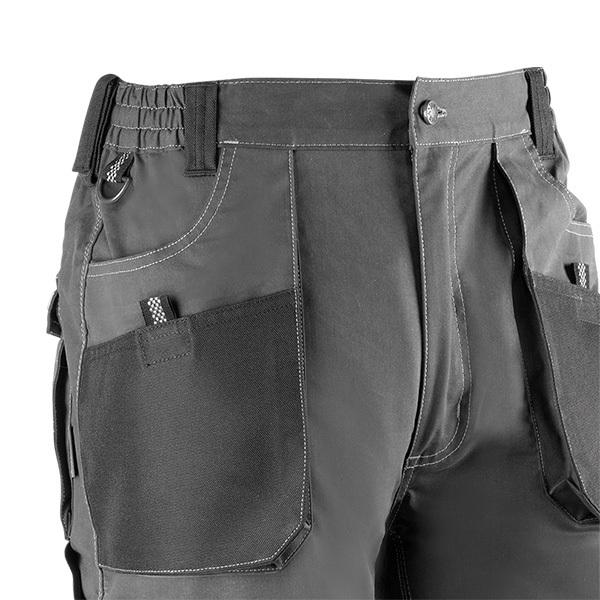 Pantalón corto multibolsillos Juba 172 FLEX Gris - Negro