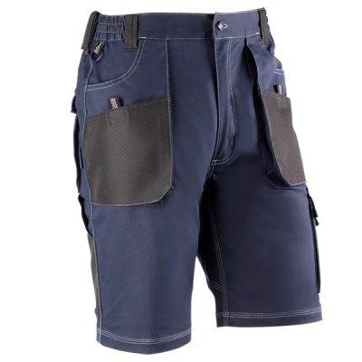 Pantalón corto multibolsillos Juba 182 FLEX Azul marino - Negro
