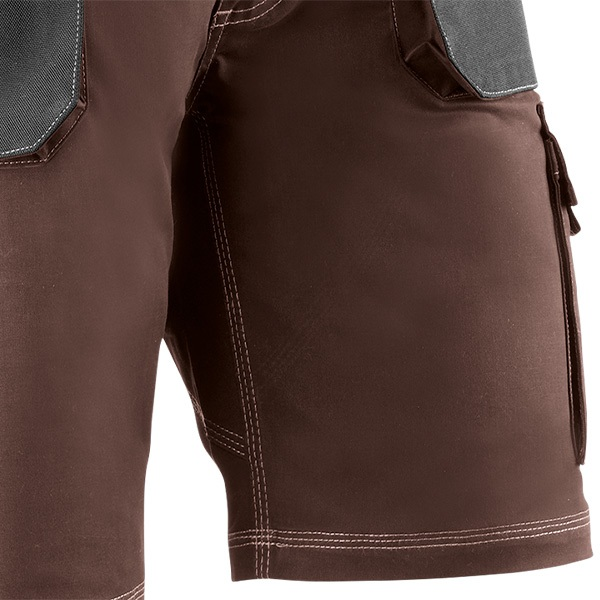 Pantalón corto multibolsillos Juba 192 FLEX Marrón - Negro