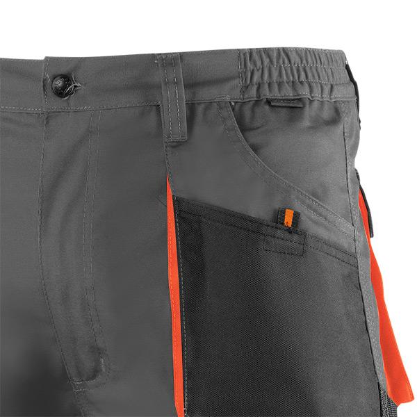 Pantalón de trabajo  de trabajo  corto multibolsillos Juba 962 TOP RANGE Negro - Gris - Naranja