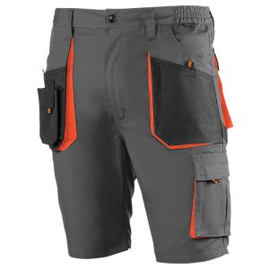 Pantalón corto multibolsillos Juba 962 TOP RANGE Negro - Gris - Naranja