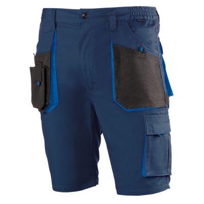 Pantalón de trabajo  de trabajo  corto multibolsillos Juba 982 TOP RANGE Negro - Azul marino