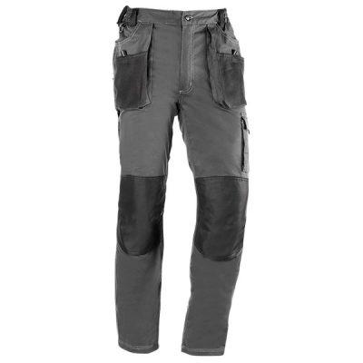 Pantalón de trabajo  de trabajo  multibolsillos Juba 171 FLEX Gris - Negro