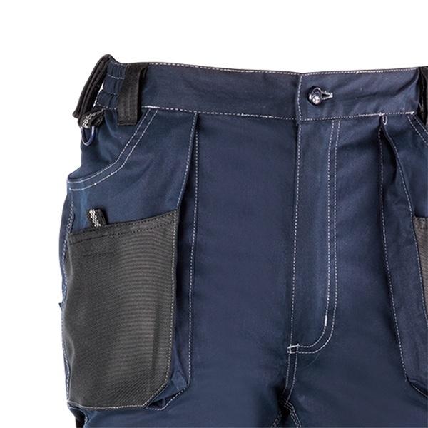 Pantalón de trabajo  de trabajo  multibolsillos Juba 181 FLEX Azul Marino - Negro