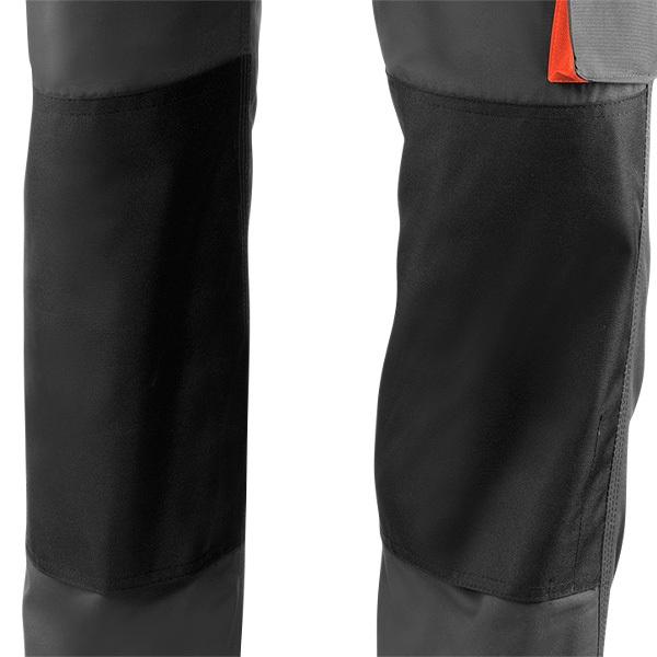 Pantalón de trabajo  para trabajar  multibolsillos Juba 961 TOP RANGE Gris - Negro - Naranja