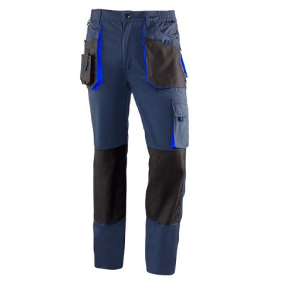 Pantalón de trabajo  de trabajo  multibolsillos Juba 981 TOP RANGE Negro - Azul marino